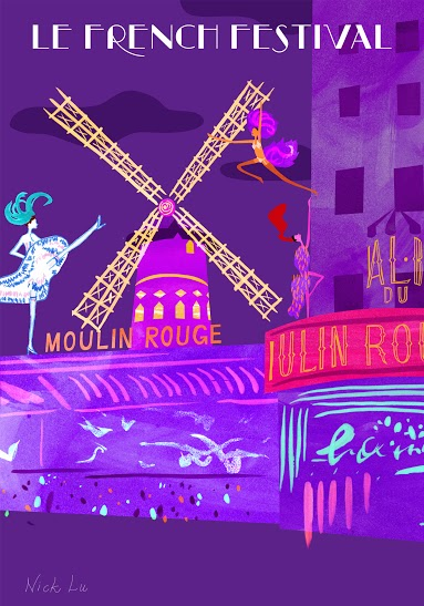 Moulin Rouge postcard FRONT