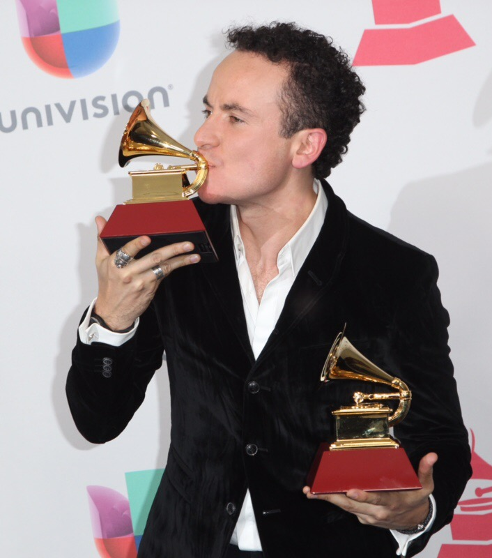 Fonseca poses with his awards for Best Tropical Song' and 'Best Cumbia/Vallenato Album' in the press room  during the 17th Annual Latin Grammy Awards on November 17, 2016, in Las Vegas, Nevada.  / AFP / Tommaso Boddi        (Photo credit should read TOMMASO BODDI/AFP/Getty Images)